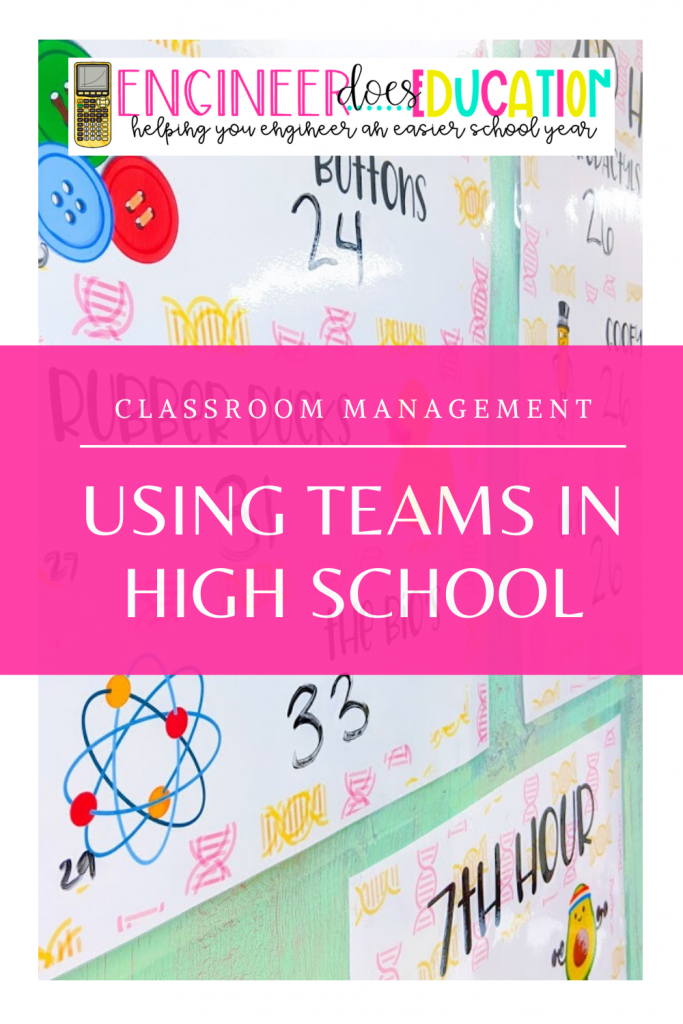 Using teams in my high school classroom management strategy to promote learning and cooperation