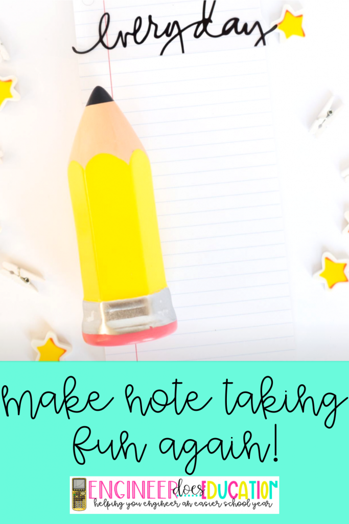 make note taking fun again! 5 ways to easily modify your lesson for more engagement