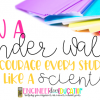 How a Wonder Wall will encourage every student to think like a scientist